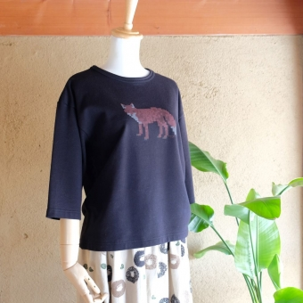 marble SUD モザイク Cropped Tee